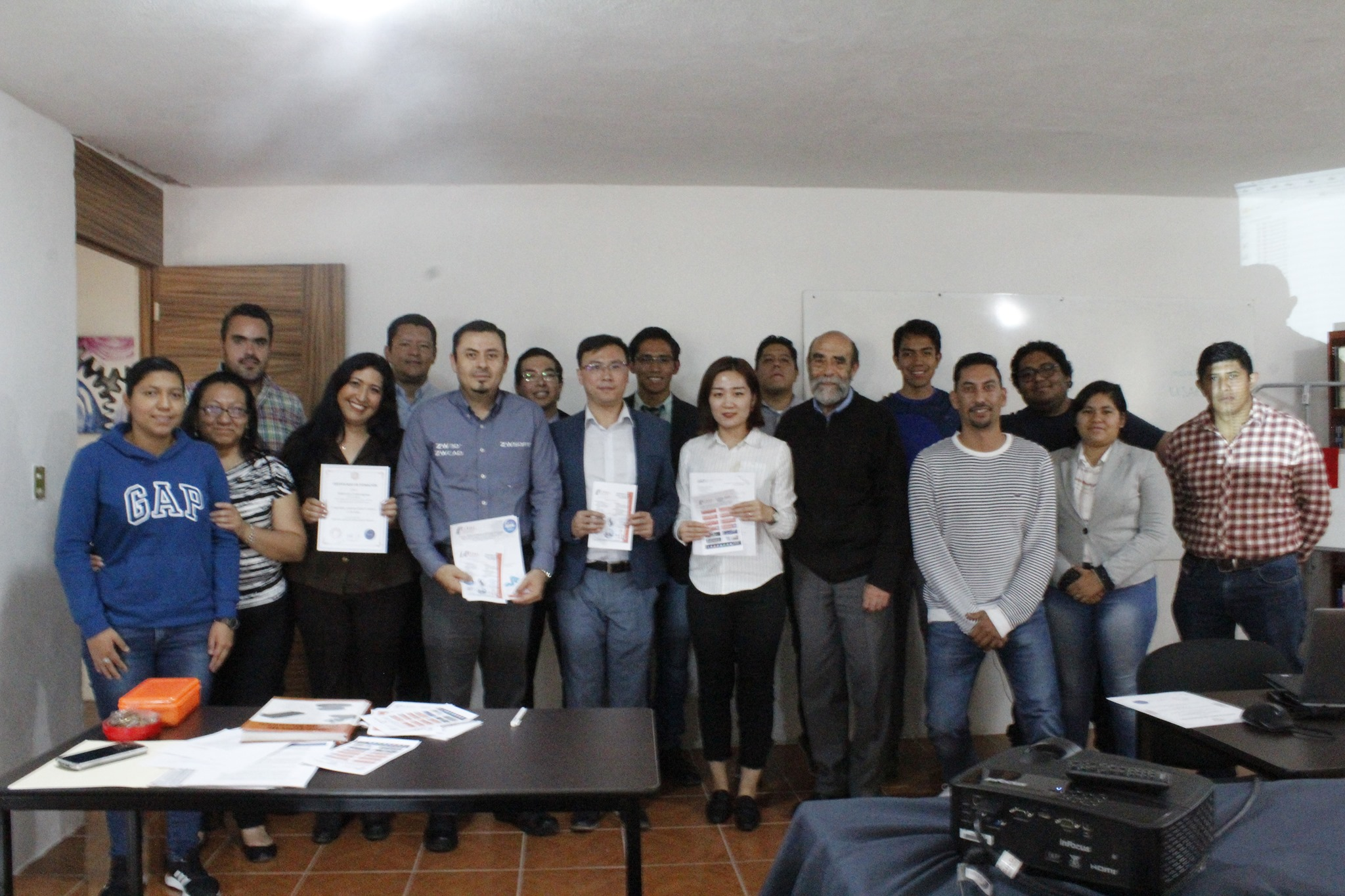Figure 2. The ZWSOFT team and instructors in CIYDI