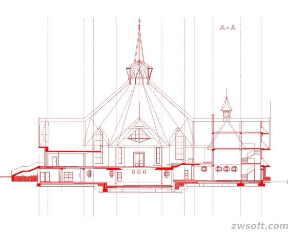 Figure 2. The to-be-built Church of Bielsko-Biała designed by them with ZWCAD.jpg