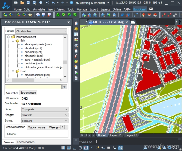 Figure 1. Editing the BGT with GISkit BasisKaart in ZWCAD.jpg