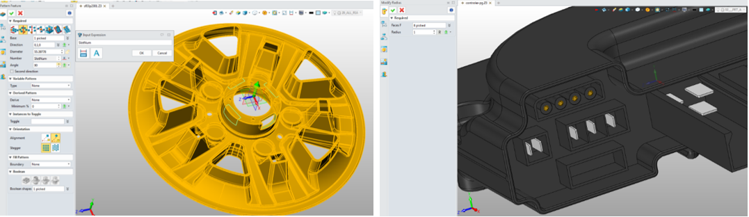 Figure 1. Design mechanical parts and electrical parts with powerful modeling functions in ZW3D.png