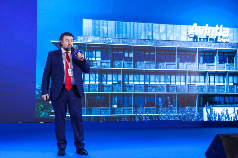 Figure 3. Mr. Jesus Box, IT Director of Avintia, giving a speech at ZWorld 2019.jpg