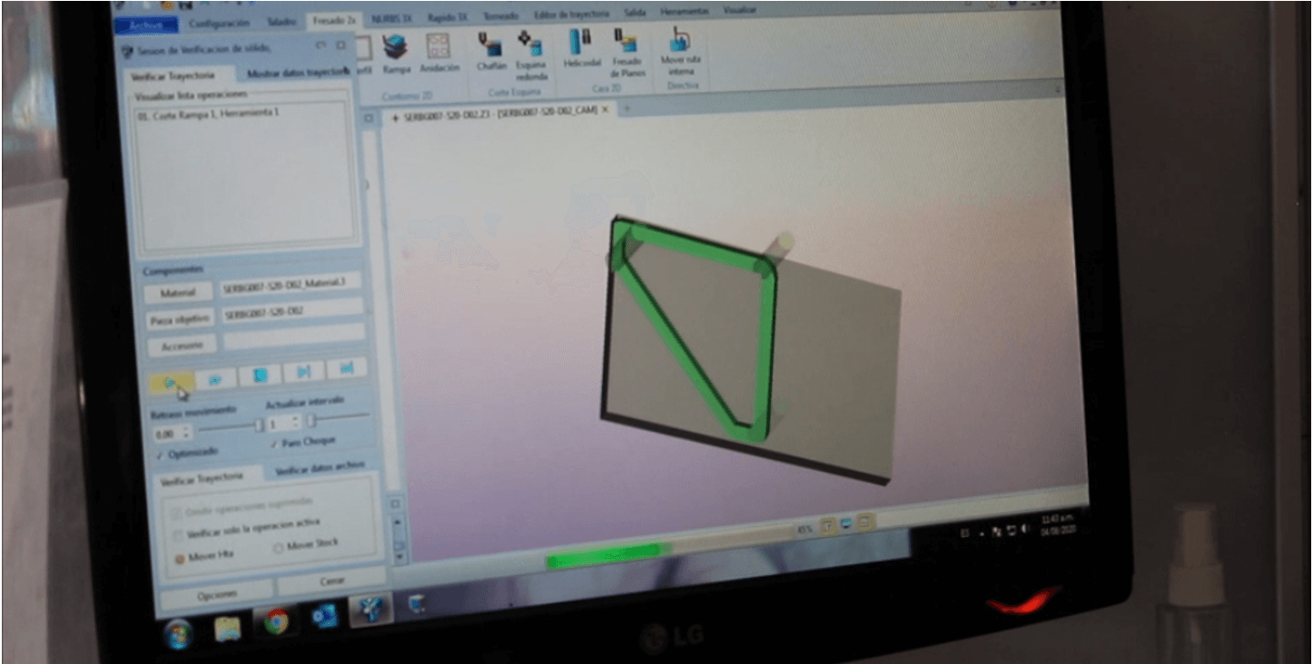 A programmer was using ZW3D to generate toolpaths 2