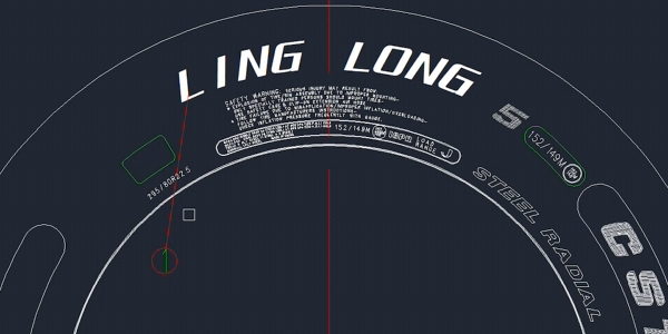 Linglong Tire design in ZWCAD Mechanical