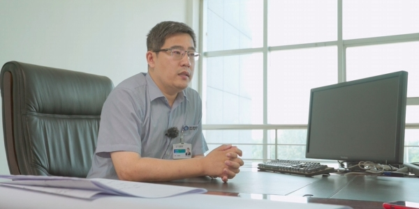 Mr. Li Jianxing talking about ZWSOFT solutions in an interview