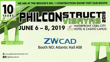 ZWSOFT will Attend PHILCONSTRUCT VISAYAS 2019 in Cebu, Philippines