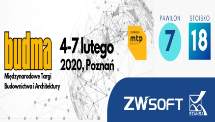 ZWSOFT Will Be Present at BUDMA 2020 in Poland