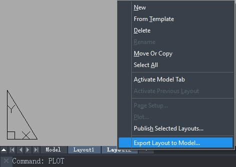 Layout Export