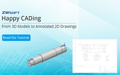 Happy CADing: From 3D Models to Annotated 2D Drawings